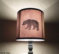 Bear lamp shade lampshade Woods Shadows -lighting, nursery decor, holiday decor, scandinavian christmas,rustic home decor,animal silhouette