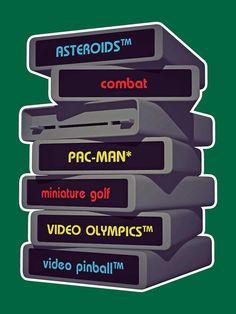 Game Cartridges for Atari 1980s Childhood, Childhood Games, Childhood Memories, Weight Watchers Points Chart, Weight Watchers Program, Pac Man, Nostalgia, Miniature Golf, Skateboard Design