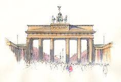 Brandenburg Gate ~ sketch ~ John Edwards