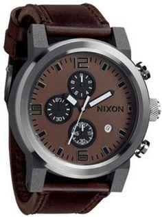 uk availability 96bdd 0a425 Nixon Ride Watch Brown Black, One Size NIXON.  404.41. Manufactured by Nixon