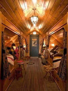 eclectic bedroom by Lands End Development - Designers & Builders- bunk house! Bunk Rooms, Attic Rooms, Attic Spaces, Bunk Beds, Attic Bathroom, Attic Loft, Attic Ladder, Attic Apartment, Attic House