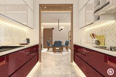 Parallel kitchen in