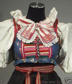 RARE Slovak Folk Costume Vazec embroidered apron blouse blueprint dress KROJ old Folk Costume, Costumes, Embroidered Apron, Folk Embroidery, Folk Art, Fashion Backpack, Dress Skirt, Blouse, Skirts