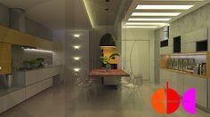 Projeto de interiores para cozinha, Portal dos Jatobás, em Porto Ferreira