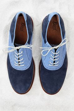Suede saddle shoe by G.H. Bass Shoes