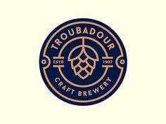 French recipes craft beer logo design, craft beer store, craft b… Beer Logo Design, Brewery Design, Badge Design, Round Logo Design, Circle Logo Design, Pub Design, Coin Design, Seal Design, Graphic Design
