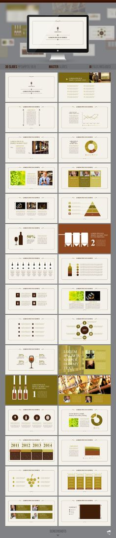 PowerPoint Template #powerpoint #powerpointtemplate #presentation Download: http://graphicriver.net/item/presentation-of-wine/8791818?ref=ksioks