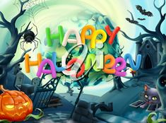 Illustration about Happy Halloween. Illustration of greeting, background, castle - 99627901 Happy Halloween, Halloween Magic, Halloween Clipart, Halloween Photos, Halloween Spider, Sunflower Sketches, Castle Backdrop, Fruit Sketch, Halloween Backdrop