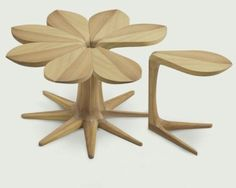 "The wooden side table ""Loves Me, Loves Me Not"" #sidetable #woodensidetable #livingroom the living room, modern living room, decorating ideas. Visit our blog www.coffeeandsidetables.com"