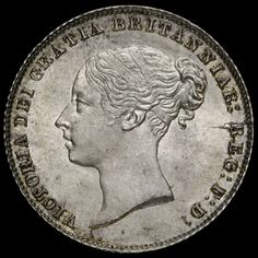 1859 Queen Victoria Young Head Silver Sixpence, Scarce, Choice Uncirculated