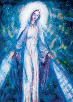 Mother of the Sacred Heart - Toni Carmine Salerno Ascended Masters, Spirit World, Blue Angels, Oracle Cards, Mother Mary, Divine Feminine, Sacred Heart, Peace And Love, Mystic