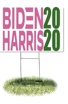 Ridin with Biden and Harris yard sign aka colors Biden Harris | Etsy Alpha Kappa Alpha Sorority, Lawn Sign, Corrugated Plastic, Pink And Green, Herbs, Yard, Signs, Colors, Etsy