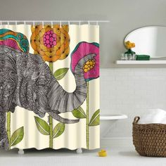 SHARE & Get it FREE | Waterproof Elephant Flower Printed Bathroom Shower CurtainFor Fashion Lovers only:80,000+ Items·FREE SHIPPING Join Dresslily: Get YOUR $50 NOW!