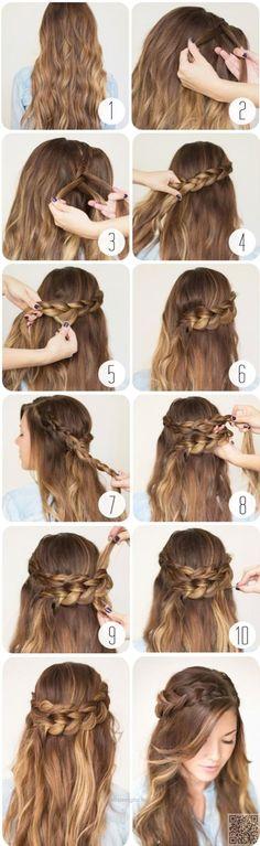 Wrap around braids…  http://www.hairdesigns.top/2017/07/23/wrap-around-braids/
