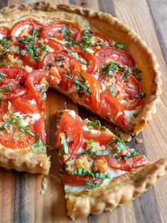 Fresh Tomato Ricotta Tart is a luscious creamy based tart topped with flavorful garden fresh tomatoes in a flaky puff pastry crust. It's a snap to make and is an absolutely delicious way to use the bright red tomatoes from your garden. Tart Recipes, Veggie Recipes, Vegetarian Recipes, Cooking Recipes, Healthy Recipes, Fresh Tomato Recipes, Tomato Pie, Tomato Tart Puff Pastry, Tomato Tart Recipe