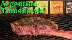 36 ounces of Certified Piedmontese Tomahawk Ribeye Steak, forward seared on my Sunterra Pro-Series Argentine Grill. Barbecue Recipes, Steak Recipes, Bbq, Tomahawk Ribeye, Argentine Grill, Beef Steak, Smoking Meat, Served Up, Grilling