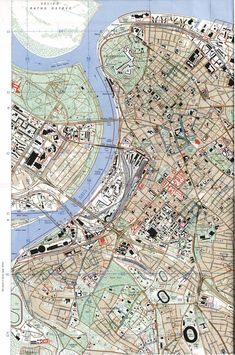 Beograd_1999.jpg (1519×2290) #Belgrade #map #topographic_map