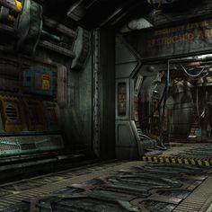 sci fi interior 3d model - Google Search
