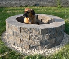 DIY Firepit (seems significantly easier than other diy firepits I've seen on Pinterest, and this girl is funny!!!)