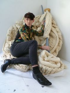 Patrick Wolf + giant knitting