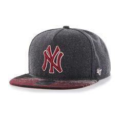 4897221e New York Yankees Santa Fe '47 Captain Dt Charcoal 47 Brand Adjustable Hat