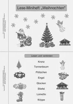 Materialwerkstatt: Lese-Miniheft Weihnachten