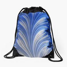 Art Bag, Fractal Art, Zipper Pouch, Chiffon Tops, Drawstring Backpack, Digital Art, Backpacks, Art Prints, Printed