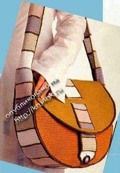Bolso moderno tejido a crochet   Crochet y Dos agujas