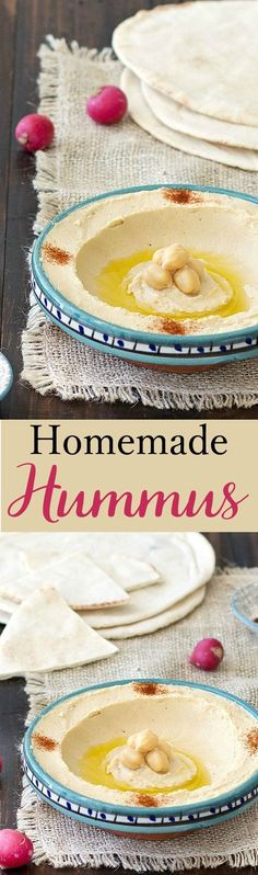 Homemade Lebanese hummus is super easy to make, tasty, healthy and requires just a few simple ingredients.