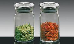 vaso in vetro con coperchio in acciaio per dispensa € 29,90