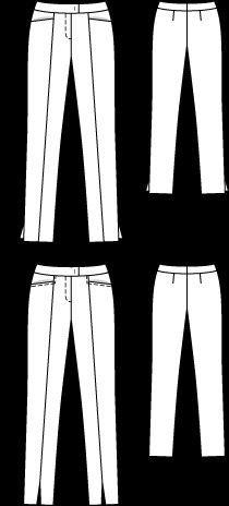Брюки - выкройка № 129 A из журнала 8/2012 Burda – выкройки брюк на Burdastyle.ru