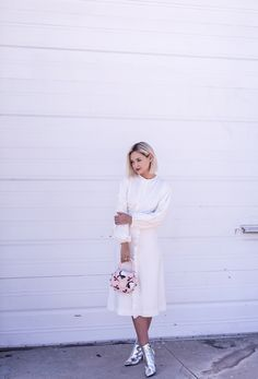 Ladylike White & Space Age Shoes Are Out of This World All White Outfit, White Outfits, Dress Outfits, White Dress, Dresses, White Space, Out Of This World, Pure White, Lbd