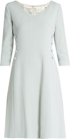 GOAT Darling V-neck wool-crepe dress