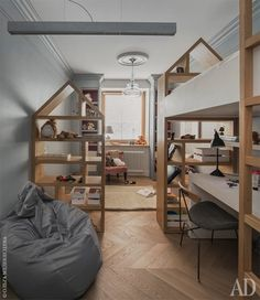 Трехкомнатная квартира 54 м2 с кирпичными стенами и цветовыми акцентами от Машы Кунякиной - Дизайн интерьеров | Идеи вашего дома | Lodgers