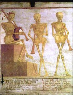 Simone II Baschenis, Danse Macabre (detail), 1539 Fresque (1, 2, 3 et 4) ; 22 x 2 m Eglise San Vigilio de la Sarca, Pinzolo (Italie)