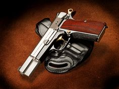 Browning Hi Power customized by ROBAR. That is Satin Roguard frame slide and internals and gold controls. Browning, Custom Glock, Military Guns, Cool Guns, Guns And Ammo, Concealed Carry, Self Defense, Tactical Gear, Shotgun