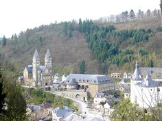 Clervaux, town in the North (Eislek/Oesling) of Luxembourg. The white building…