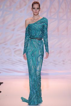 Zuhair Murad | Fall/Winter 2014 Couture Collection (Look 34 of 47) | Modeled by Alexandra Hochguertel | July 10, 2014; Paris, France