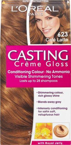 loreal paris casting creme gloss 623 cafe latte - Coloration L Oreal Caramel