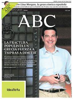 La portada de ABC del viernes 21 de agosto
