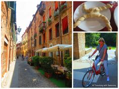 "On the bike in Ferrara, Jewish Quarter, coppia ferrarese - ""5 Favorite Highlights of Ferrara Italy"" by @Catherine Sweeney"