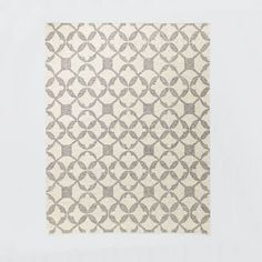 *actual* $679 Living Room Rug!! Tile Wool Kilim Rug - Platinum