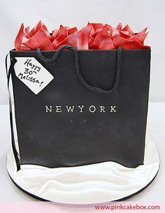 Shopping Bag Cake by Pink Cake Box