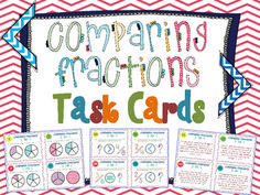 Comparing Fractions Task Cards. 48 Comparing Fractions Task Cards aligned to Common Core Standards (4.NF.2) and highly engaging for your students. Cards use several different methods to help students see relationships between fractions. Answer Key included. $