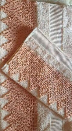 You certainly have seen one or another crochet nozzle around, even if you didn't know that was the name. This is because the crochet nozzle, which is also Crochet Boarders, Crochet Lace Edging, Crochet Motifs, Thread Crochet, Filet Crochet, Crochet Doilies, Crochet Stitches, Knit Crochet, Crochet Patterns