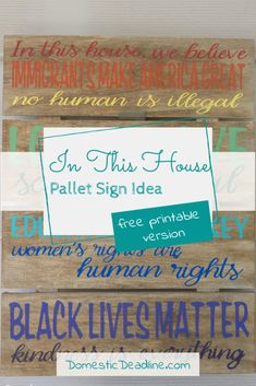 What Patriotism Means to Me In This House | Domestic Deadline Painted Letters, Painted Signs, Believe Sign, Stencil Vinyl, How To Make Signs, Nice Handwriting, How To Make Stencils, Craft Stash, Rainbow Painting