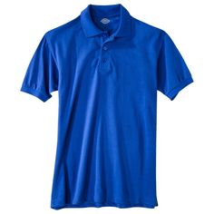 Dickies Young Men's Pique Polo Royal Blue L, new