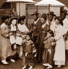 OLD KOREA - LAND OF THE MORNING CALM -- A Wedding Party (1), SEOUL  Photo by UNKNOWN photographer, ca.1899-1900.