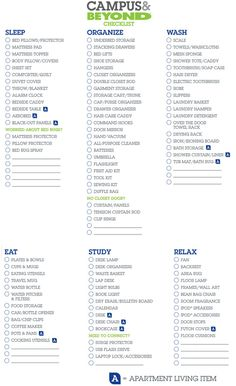 College Checklist & Essential Dorm List for Freshman - Bed Bath & Beyond
