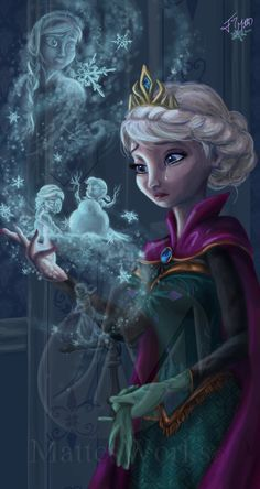 Confessions of a Snow Queen by MattesWorks Elsa in pain Frozen Walt Disney movie animation enchanting fairytale. Disney Pixar, Deco Disney, Arte Disney, Disney Films, Disney Fan Art, Disney Animation, Disney And Dreamworks, Disney Cartoons, Princesa Disney Frozen